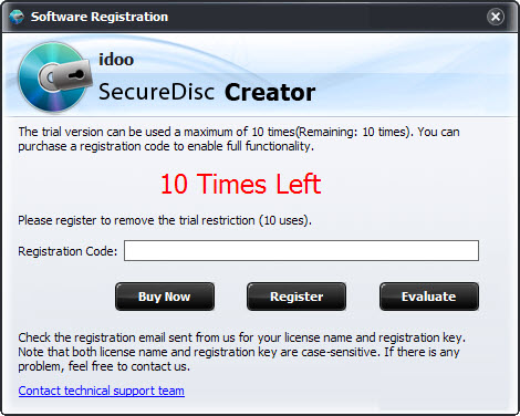 How to encrypt CD or DVD idoo Secure Disc Creator is a