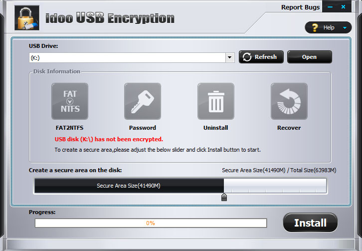 idoo USB Encryption Screenshot
