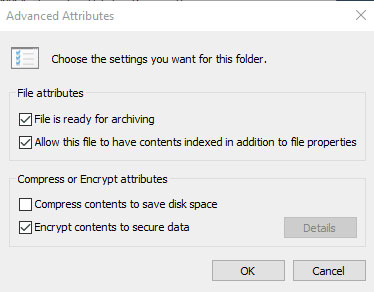 Software and ways to encrypt files or folders in Windows 10, In Windows Explorer, right-click on the file or folder you wish to encrypt.