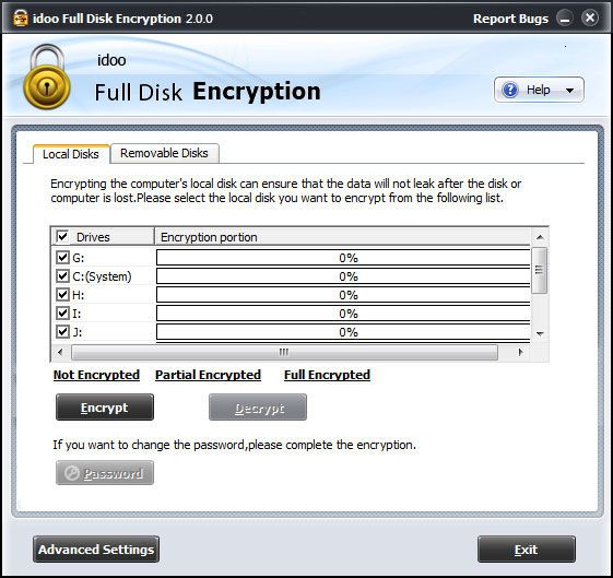 full disk drive encryption
