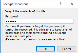 how to encrypt a document