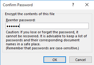 password protect office document